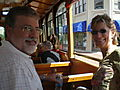 Chris and Gayle on the Trolley