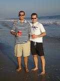 On the beach in Malibu