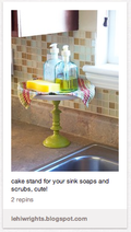 5 Cake stand by sink